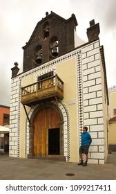 Small church Iglesia Nuestra Senora de Bonanza, town of El Paso, La Palma, Canary islands - 03-16-2018/Spain