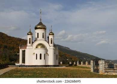 A small church at Mavrovo lake in Macedonia