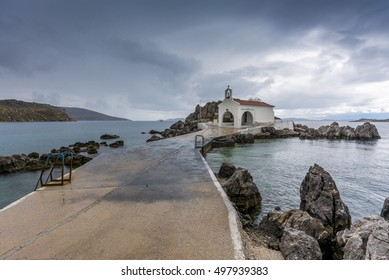 Small church near the coast of Chios Island, Greece