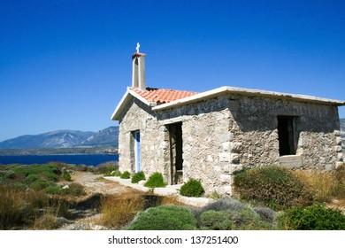 Small church on Elafonisi island, Crete, Greece