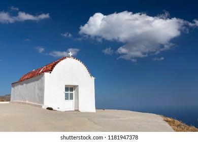 Small church on the island of Crete, Greece