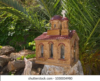 Small church on the roadside on Crete in Greece