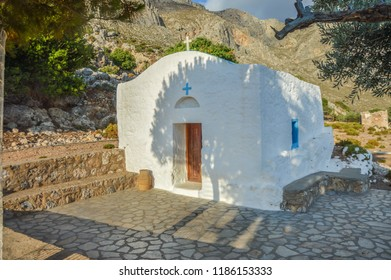 Small Church in Skalia Village in Kalymnos Island,Greece