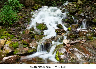Small clear cascade in a forest of southern Bolivia