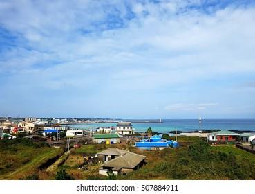 Small coastal village in Jeju island, South Korea