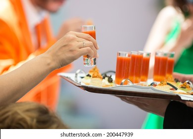 small cocktails and starters