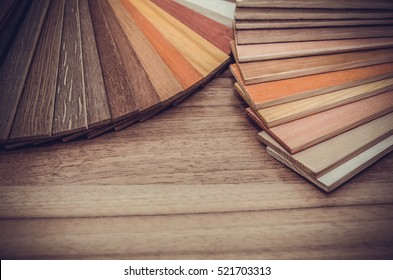 Small color sample boards. toned image for design