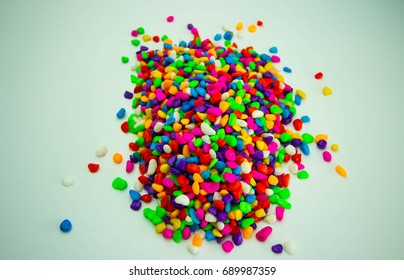 small colored stones for wallpaper or background.