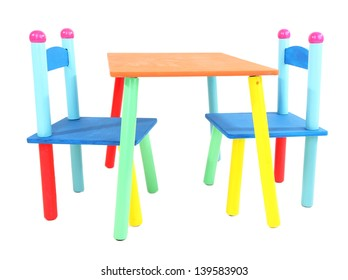 Peachy Kids Table Chair Isolated Images Stock Photos Vectors Pabps2019 Chair Design Images Pabps2019Com