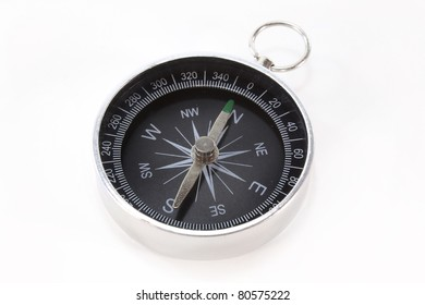 a small compass on a white background