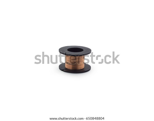 Small copper wire spool