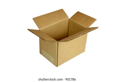 Small Corrugated Shipping Box   (with clipping path)