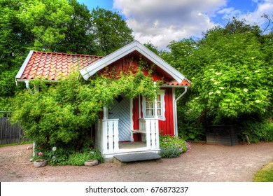 Small Cottage in the Botanical Gardens in Gothenburg, Sweden