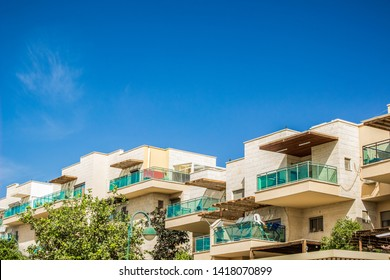 small cottages living apartment in south architecture style in summer bright clear weather time and clean blue sky background