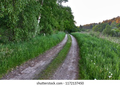 Small country road en Denmark