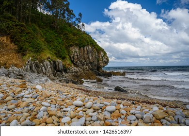 Small cove on the Bay of Biscay in Novales, Asturias, Spain