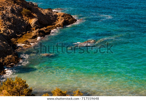 Small coves and beaches make up for plenty life underwater in the Mediterranean