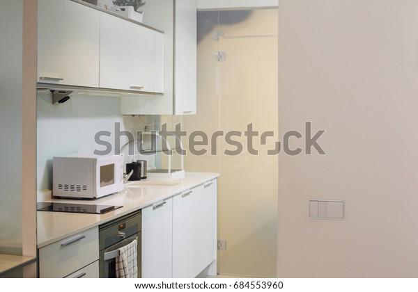 Small Cozy Kitchenette Studio Apartment | Royalty-Free Stock ...