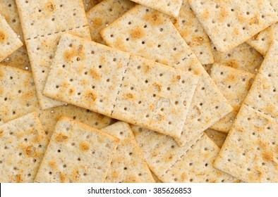 Small crackers isolated on a white background