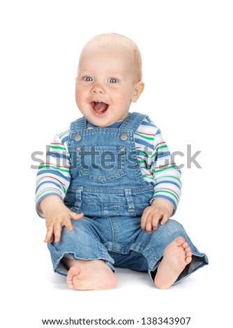 38802b97822 Small Cute Baby Boy Jeans Isolated Stock Photo (Edit Now) 138343907 ...