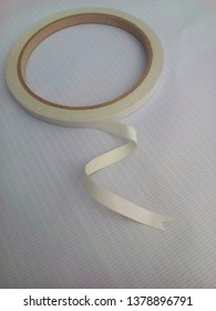 small double tape insulated background of white flexion material