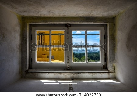Small Double Window Looking Outside Over Stock Photo Edit Now
