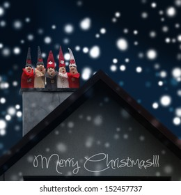 small elves goes down a chimney