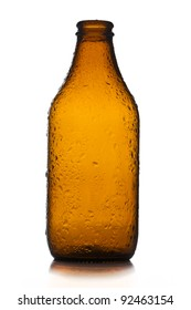 Small empty bottle of beer