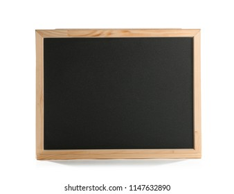 Small empty chalkboard, isolated on white
