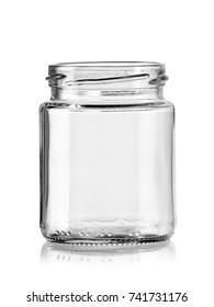 Small empty opened jar