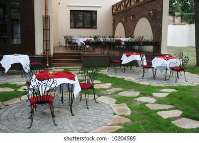 Small european coffee shop