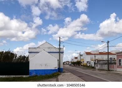 small european village road