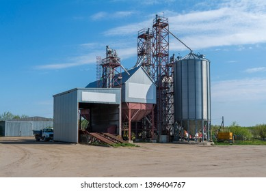 A small factory for the processing of grain. Agro-industrial Plant on the farm.