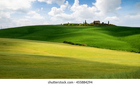 Small farmhouse near Monticello in Tuscany, Italy, June 2016