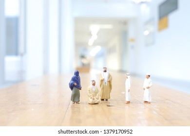 a small of figure of Arabia family