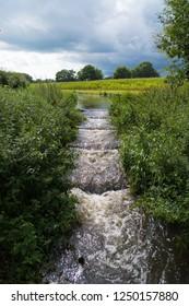 small fish ladder in a dutch river