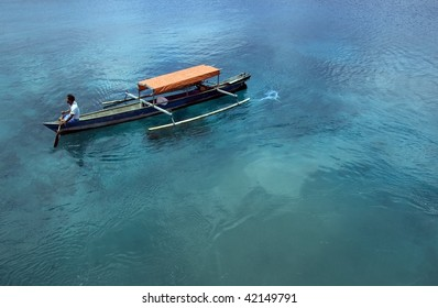 Small fisherman boat. Indonesia.