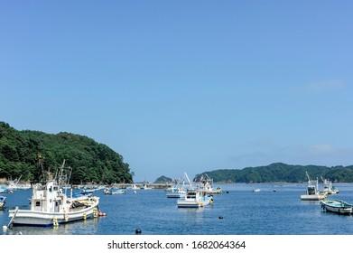 A small fishing port in Onagawa, Miyagi Prefecture
