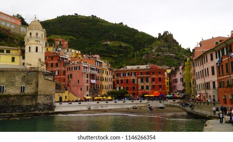 Small fishing village by the sea.. At Cinque Terre National Park, Italy. In May  2018.