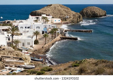 Small fishing village La Isleta del Moro in Cabo de Gata Natural Park, Spain