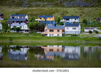 Small fishing village in Norway