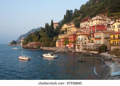 The small fishing village of Varenna, Italy