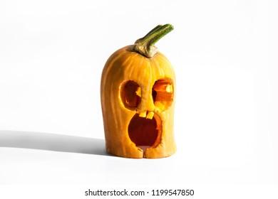Small Frightened Halloween Pumpkin
