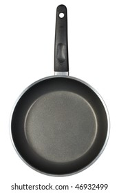 Small frying pan isolated on white background