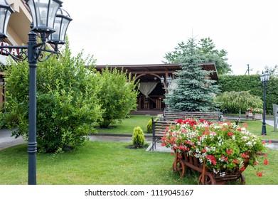 Small Gardens and Unique Plants. Landscape design
