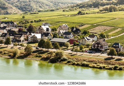 Small german village in the valley of Mosel