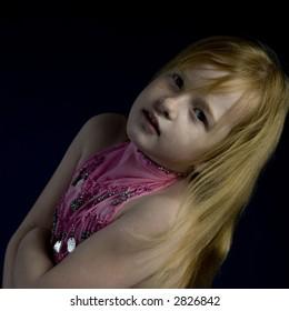 Small girl in the studio