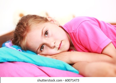 Small girl suffering from insomnia