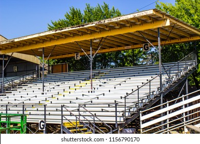 Small Grandstand At Local County Fair