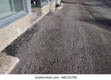 Small Gravel on the Sidewalk